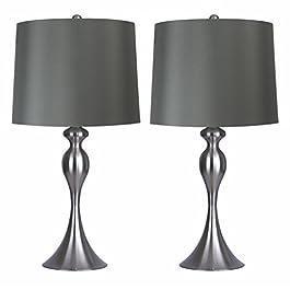 Grandview Gallery Metal Table Lamp, Set of Two