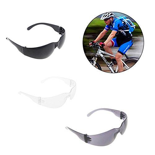 Lergo Protective Safety Glasses Eye Protection Goggles Eyewear For Dental Lab Work - Transparent/Black/Black+Gray PC Lens