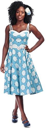 Swing Nova Weiß Collectif Seashell Damen Kleid Himmelblau Dress Muschel gqvOS