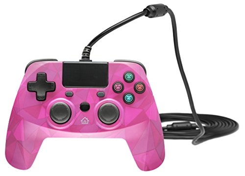 Snakebyte Gamepad S - Wired PS4 Controller with 3M Cable - Bubblegum Camo - PlayStation 4 (Snakebyte Ps3 Controller)