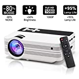 Projectors,Mini Portable LCD Video Projector Multimedia with Free HDMI Cable and Tripod,1000 Lumens Supports 1080p,HDMI,VGA,USB,AV,SD for Multi-media Home Cinema Theater Movie Nights and Video Games