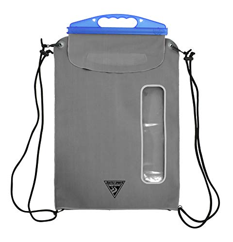 (Seattle Sports E-Merse Neo GoPack 10.5L - Waterproof Dry Bag Submersible Backpack with Window, Blue Steel)