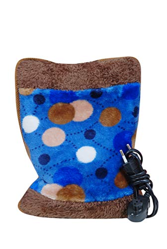 AG E-Com Electric Hot Water Bag Heating Gel Pad Fur Velvet with Hand Pocket Pain Relieve (Multicolour)