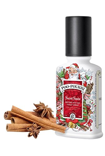 Secret Santa Claus Christmas Poo Pourri Bathroom Spray 2-Ounce (Christmas Scents)