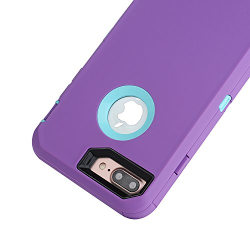 iPhone 7 Plus 5.5 inch Case, Yadik Shock Absorption Heavy Duty Military Grade Hybrid Silicone PC Case for iPhone 7 Plus (Purple Blue) Photo #3