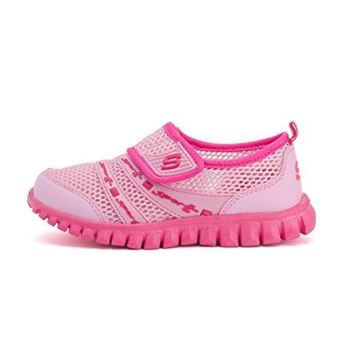 Eagsouni Unisex-Niños Malla Transpirable Velcro/Zapatos del Ocio/Peso Ligero Transpirables Zapatillas Rosa