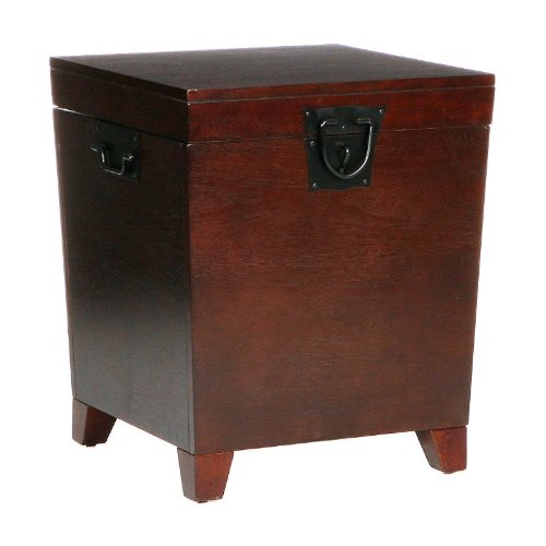 Southern Enterprises CK2225 Espresso Pyramid Trunk End Table