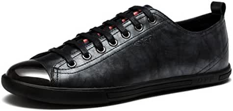 Men's Fashion Shoes Casual Sneakers, Genuine Leather for Men