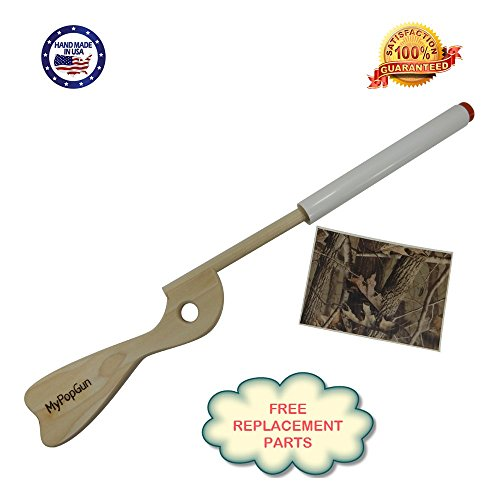 Best DIY Toy CAMO Pop Gun White Rifle Easy to Camo Using Tape Provided, Durable-Fun-Wonderful Pretend Play Duck Hunting, Made in The USA 100% Guarantee