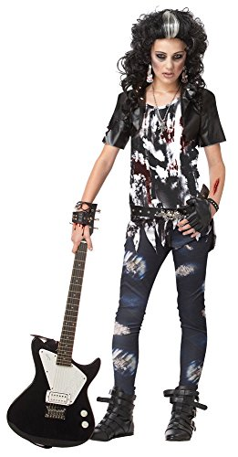 Rocked Out Zombie Teen (Size 3/5 (Rocked Out Zombie Wig)