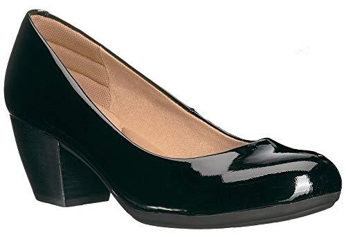 Comfortiva Women's Amora Black Patent 8.5 M US