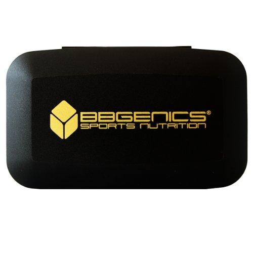 BBGenics - Kapsel-Tablettendose / Kapsel-Tablettenbox - Aufbewahrung mit 5 Fächern - Zubehör / Shaker