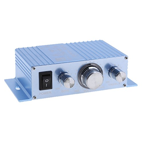 MagiDeal 2 Channel Car Mini Amplifier 12V 180W+180W Hi-Fi Stereo Aux Speaker Amp Accessories Clear Sound by Unknown
