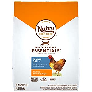 Nutro Wholesome Essentials Natural Dry Cat Food, Senior Cat Chicken & Brown Rice Recipe, 14 lb. Bag 89