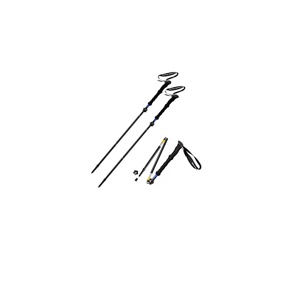 "Short Person's Trekking Poles / Collapsible to 13 1/2"" / Hiking Poles / Walking Sticks by Sterling Endurance (buy 1 pole or 2 poles)"