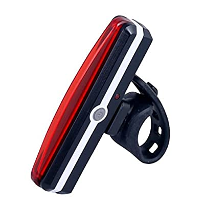BIKAVO LED USB Rechargeable Bike Tail Light For Bicycle Safety Ultra Bright Red High Intensity Rear Cycling Accessories Fits Road Mountain BMX Helmet Flashlight Headlight Powerful 6 Mode Waterproof