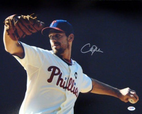 (Cliff Lee Signed 16 x 20 Photograph Philadelphia Phillies - Certified Genuine Autograph By PSA/DNA - Autographed Photo)