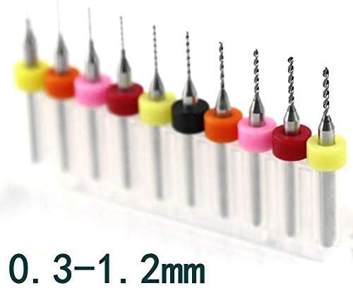 GENERICS LSB-Werkzeuge, 0.3mm-1.2mm Carbide PCB Bit Werkzeuge 0.8mm 0.7m Metall-CNC-Fräser Holz Printed Circuit Board Graviermaschine Zubehör 10PCS (Größe : 3.175mm)