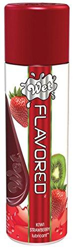 Wet Flavored Water Based Gel Lubricant, Kiwi Strawberry, 3.6 Ounce - Kiwi Strawberry Lubricant