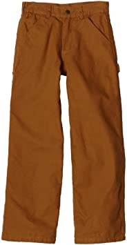 Carhartt Little Boys' Flannel-Lined Washed Dung