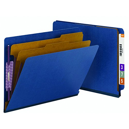 Smead End Tab Pressboard Classification File Folder with SafeSHIELD Fasteners, 2 Dividers, 2