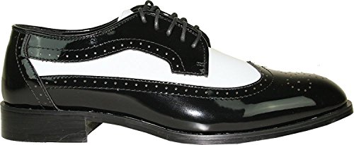 Bravo Jean YVES Dress Shoe JY03 Wing Tip Two-Tone Tuxedo For Wedding, Prom and Formal Event