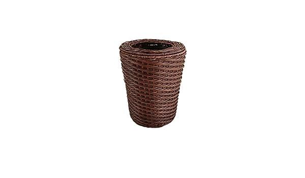 Amazon.com: Waste Basket Wicker Handmade, Home Trash can ...