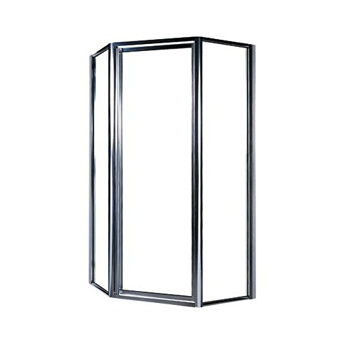 36neo Angle Shower Base (Swanstone SD-36NEO-C-081 Polished Chrome Universal Clear Glass Neo Angle Shower Door Kit for 36