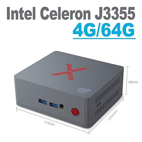 (Beelink BT3 X Mini PC 4GB RAM LPDDR4 64GB eMMC Intel Apollo Lake Celeron Processor J3355 HD Graphics 500 Dual Screen Display 4K Desktop PC, VESA Mount,Dual WiFi)