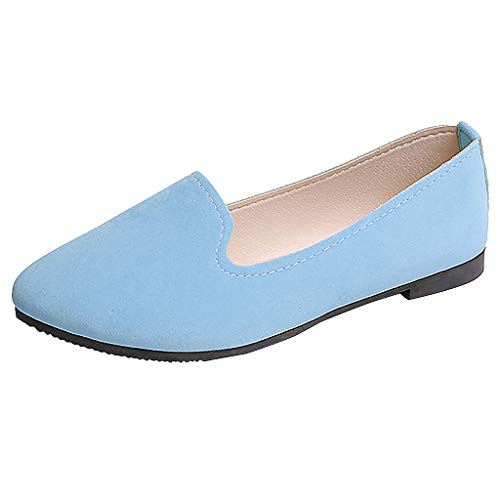 Cbr Honda Ladies - ONLY TOP Women's Classic Flats Memory Foam Cushioned Soft Daily Slip-on Casual Sneaker Flat Shoes Light Blue