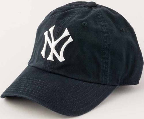 New York Yankees Washed Cotton Twill Baseball Cap by American Needle American Needle Embroidered Cap