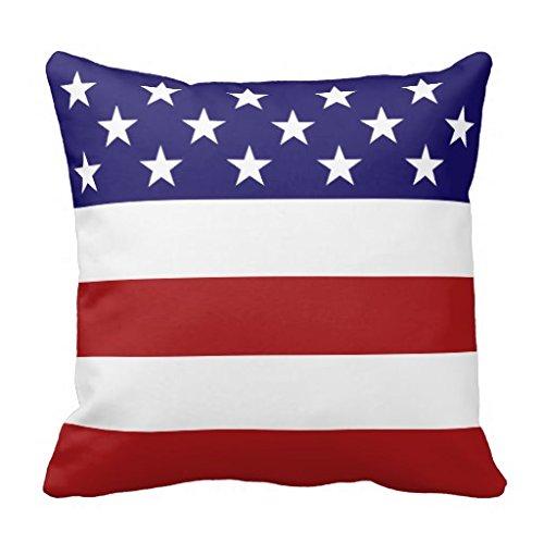 Funda de almohada de la bandera americana 18 x 45,72 cm ...