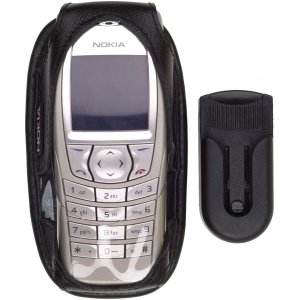 Amazon com: Nokia OEM 6600, 6620 Leather Case - Black: Cell