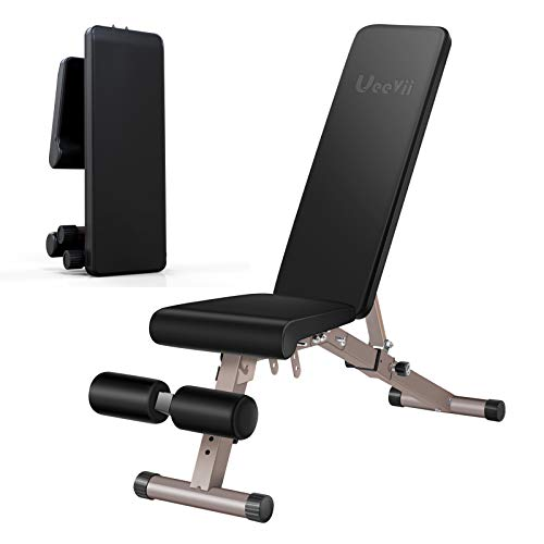 UeeVii Adjustable Weight Bench, Workout Bench Foldable, Bench Press Weight Bench, Strength Training Adjustable Benches…