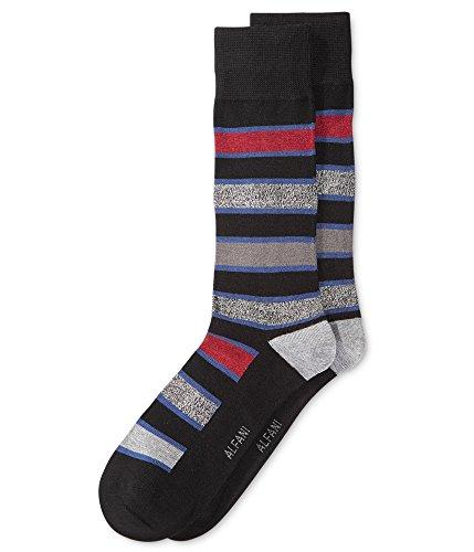 Alfani Men's Socks Red and Grey Striped Seamless toe fit 7-12 ()