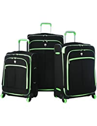 Evansville 3Pc Luggage Set, Lime, One Size