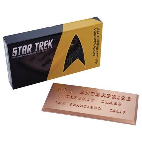 Star Trek U.S.S. Enterprise NCC-1701 Dedication Plaque #1 ()