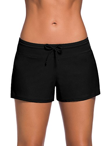 Satinior Women Swimsuit Shorts Tankini Swim Briefs Side Split Plus Size Bottom...