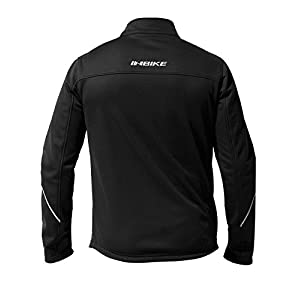 INBIKE Winter Men's Fleeced Athletic Jacket Soft Shell Coat Windbreaker Thermal Tech Clothing (XL, TJJ)