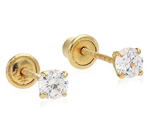 Solitaire Zirconia Earrings Regetta Jewelry