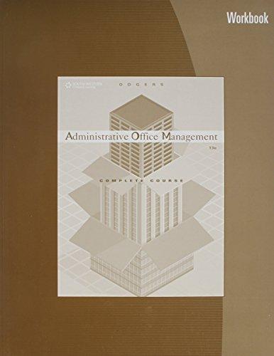 Administrative Office Management Workbook