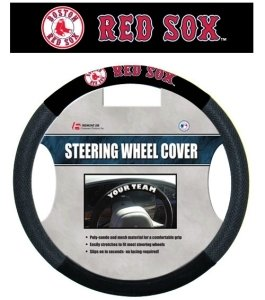 - MLB Boston Red Sox Poly-Suede Steering Wheel Cover