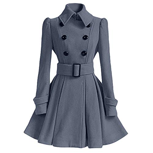 Women Coat,AgrinTol Winter Warm Woolen Trench Parka Jacket Belt Overcoat Outwear