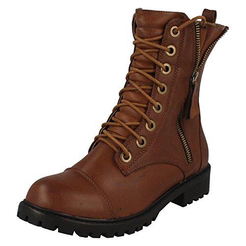 Spot On ,  Damen Combat Boots Dunkelbraun