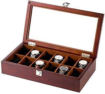 AG Caja de reloj de madera Cajas Para Joyas Hombre Mujer Regalo ...