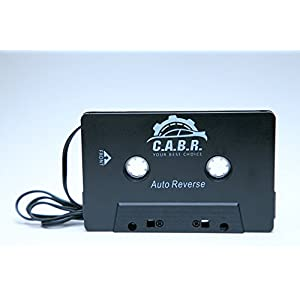 C.A.B.R. 3.5mm Stereo Plug Universal Audio Cassette Adapter for iPhone/Android/Smartphones - Black