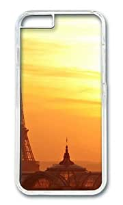 MOKSHOP Adorable Eiffel Tower in Sunset Hard Case Protective Shell Cell Phone Cover For Apple Iphone 6 Plus (5.5 Inch) - PC Transparent