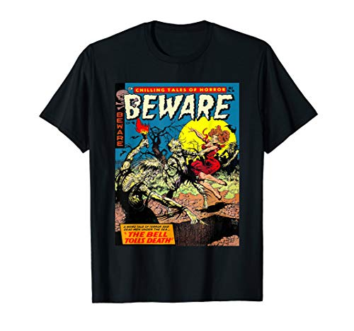 Beware Zombies - Vintage Horror Zombie Comic Book T Shirt