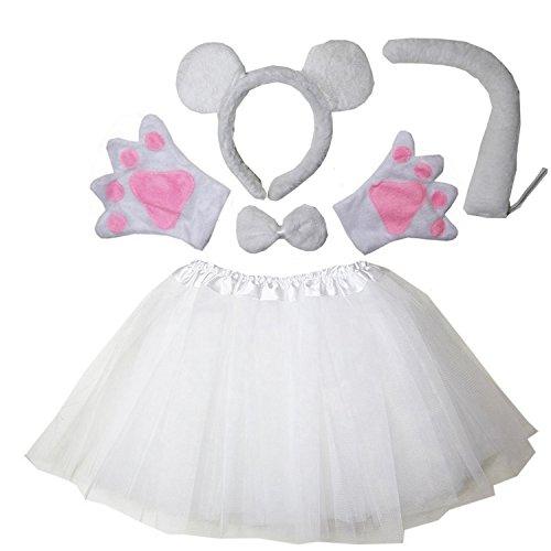 Kirei Sui Kids Costume Tutu Set White Mouse -