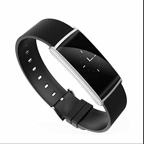 Tracker d'activité et de sommeil,Smart Bracelet Coeur de La Pression Artérielle Moniteur de Fréquence Smartband Étanche IP67 Bracelet À Puce Portable Pour Android IOS